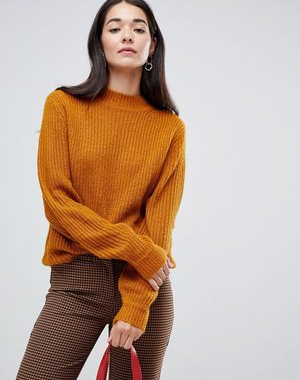 vila-high-neck-knit-jumper